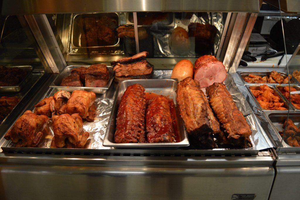 various cooked meats ready for serving