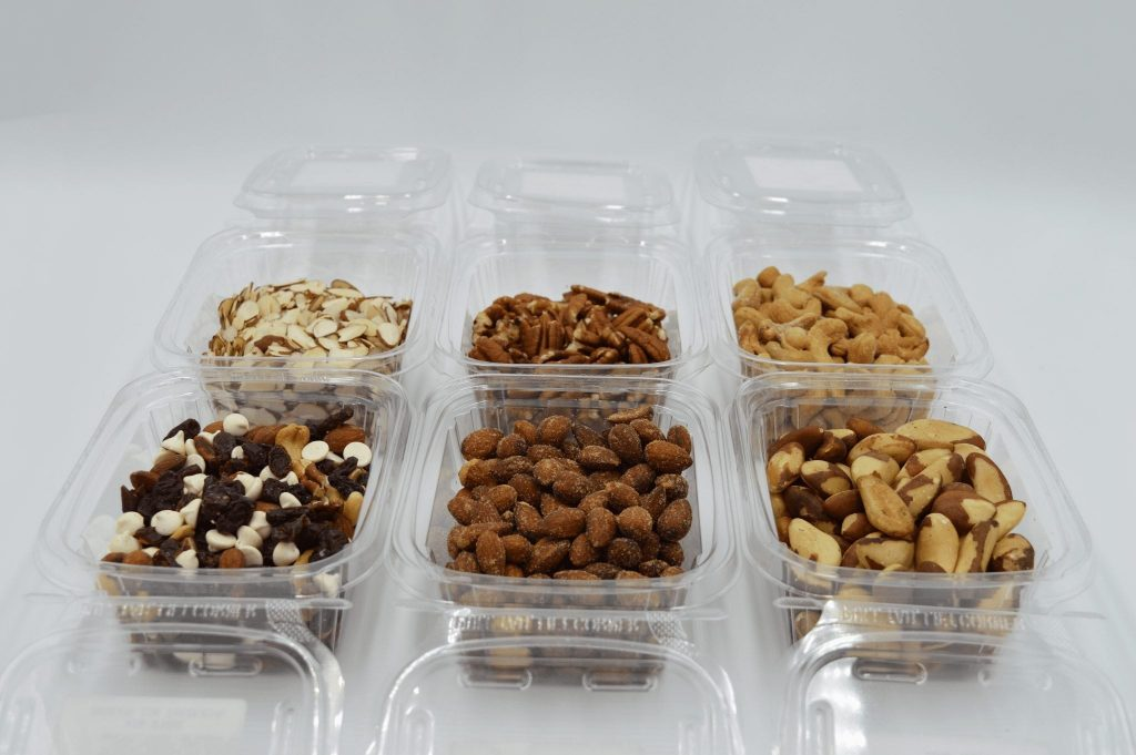 containers of bulk nuts