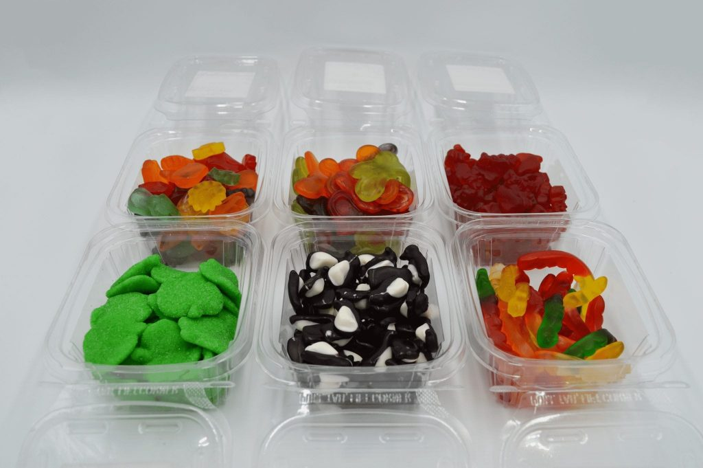 containers of bulk sale gummy candy