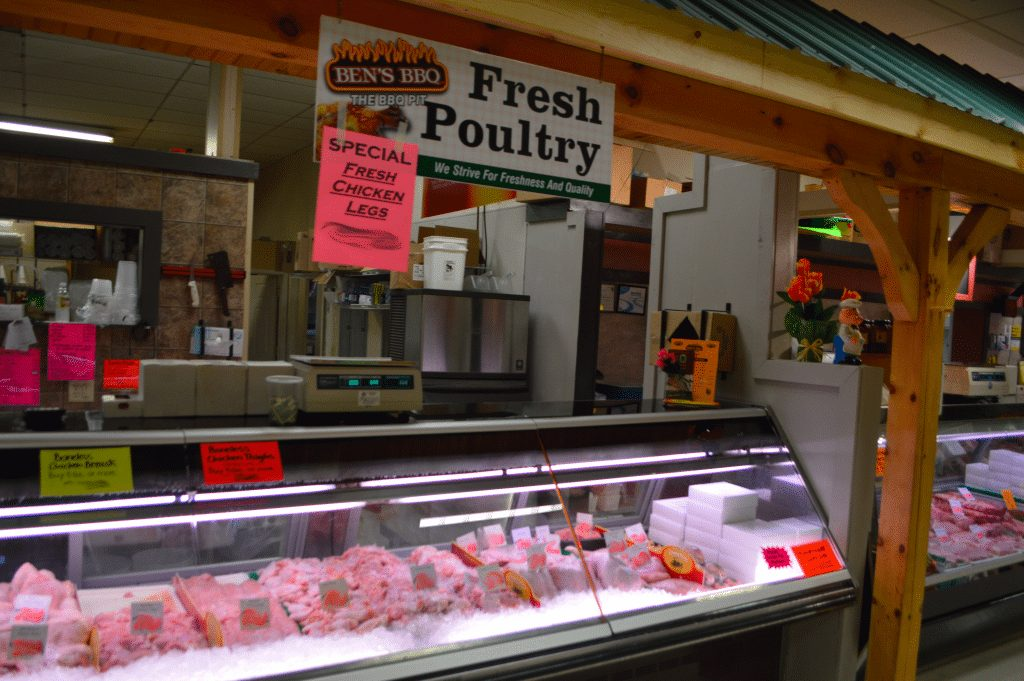 front counter of Ben's Fresh Poultry