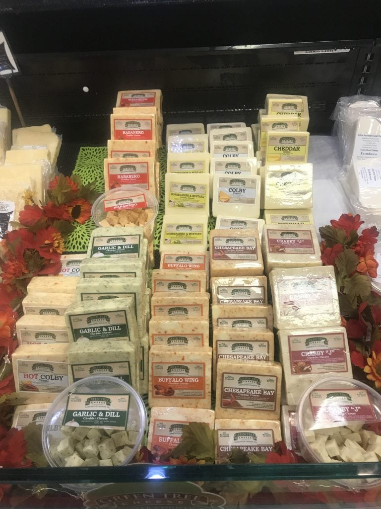 various blocks of cheese